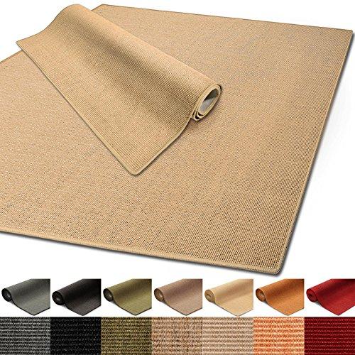 Floordirekt 100% reines Sisal | Sisalteppich vielen Größen (Natur, 140 x 200 cm)