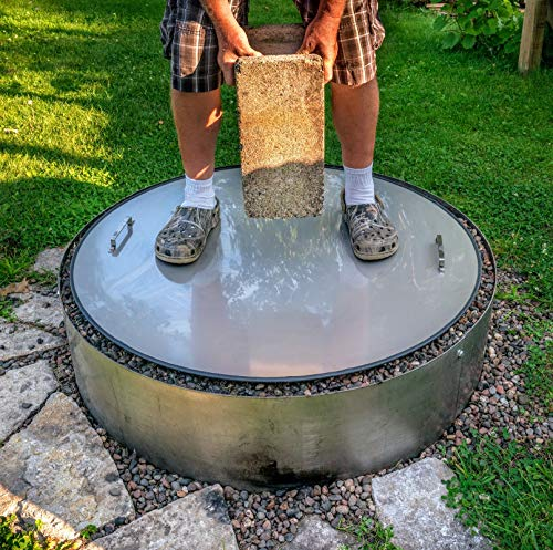 40' Flat Stainless Steel Metal Fire Pit Ring Spark Cover Lid Table Top