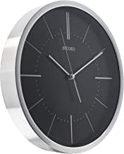 QXA714ALS SEIKO Quiet Sweep hand black and silver Wall Clock Diameter 30.2 cm