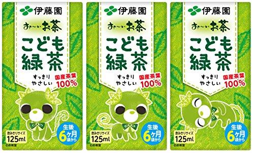 伊藤園 おーいお茶 こども緑茶 紙パック 125ml×36本