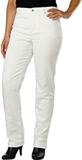Amanda Classic Fit Tapered Leg Womens Jeans (Color: Vintage White) (18 Average)