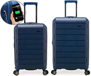 Traveler's Choice Indestructible Expandable Hardside Spinner Luggage with USB Port (26 22-Inch)
