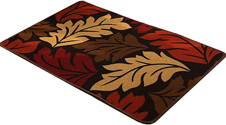 Door mat,Entrance Door mats Bathroom Non-Slip Rug Front Door Rug Modern Area Rug-leafA 58x88cm(23x35inch)
