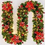 LAL 2.7 m Navidad ratán artificial guirnalda guirnalda ornamento decoración del hogar pino árbol de Navidad chimenea ratán decoración Año Nuevo