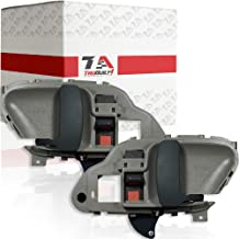T1A Interior Pair of Left Driver's and Right Passenger's Front or Rear Door Handle Replacements for 1995-2000 Chevy Silverado, Fits Suburban, GMC Yukon and Tahoe, Gray Color, T1A 15708043 15708044