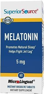[Launch] Superior Source Melatonin 5mg with Chamomile Instant Dissolve Tablets - Non Addictive Sleep Aid - Sublingual Mela...