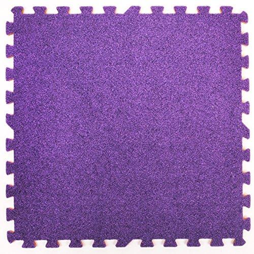 Tapis en mousse assemblables effet tapis - Parfait pour la protection des sols, le garage, l'exercice, le yoga, la salle de jeux. Mousse Eva (9 tuiles, violet),