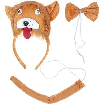 luoem 3pcs Set Sombrero corbata Cola de caballo para disfraz de ...