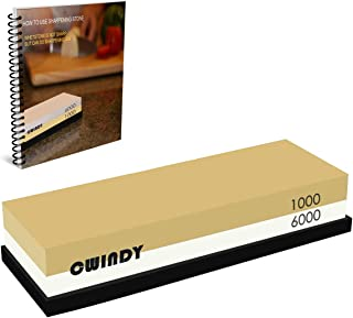 CWIDNY Sharpening Stone Whetstones Knife Sharpening Stones Waterstones Wetstones Wet stones Knife Sharpener Stones 1000 6000 Grit, Non-slip Base and Ebook Included
