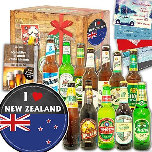 I love New Zealand / 12 Biere Welt und DE/Neuseeland Geschenk