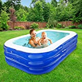 Kindnessjp プール 大型 ビニールプール ッション 水遊び 猛暑対策 スイミング 家庭用プール 屋内用 お庭 折りたたみ 210㎝×150㎝×68㎝