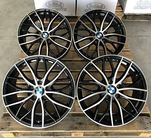 4 x 18 Zoll MM-CONCEPTS MM01 Alu Felgen 8x18 5x120 ET30 schwarz front poliert für 3er E36 E46 E90 E91 E92 E93 F30 F31 F34 4er F32 F33 F36 M4 335 435 M-Paket M-Performance CSL NEU