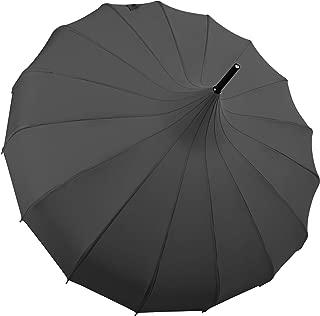 Vintage Black Parasol Umbrella, Victorian UV Protection Rain Umbrella Parasol for Women and Girls