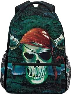 Computer Backpack for Student College Girls Boys Woman Men Casual Daypack Marine Pirate Skull Rucksack Bulldog Travel Hiking Camping Laptop School Bags