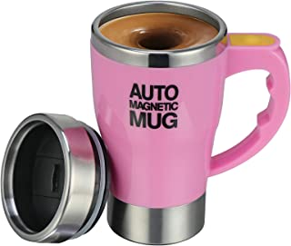 TsunNee 320ML elektrische zelfroerende koffiemok, roestvrij staal auto magnetische mok, auto mengen beker voor koffie thee...