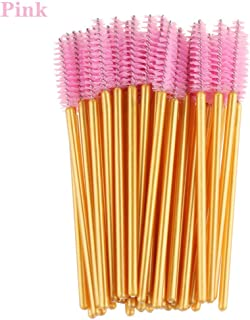1/50Pcs/Pack Disposable Micro Eyelash Brushes Mascara Applicator Wand Brushes Comb Eyelash Brushes Makeup Tool Kit Pink
