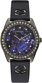 Guess Womens Quartz Watch, Analog Display and Leather Strap W1277L1