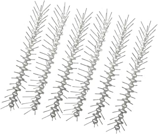 ValueHall Bird Spikes Anti Climb Security Fence Wall Spikes 3M Stainless Steel Pigeon Repellent Humane Control Deterrent for Pigeons Crows Small Birds Cats V7098
