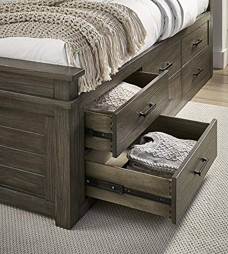 Great Deal! A-America Captains Bed in Gray Stone (Queen: 88 in. L x 66 in. W x 56 in. H)