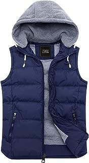 Men's Winter Removable Hooded Padded Vest
