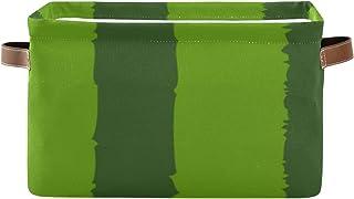 Paniers de rangement Boîte de rangement pour organisateur de placard à texture de pastèque avec poignée Porte-couverture P...