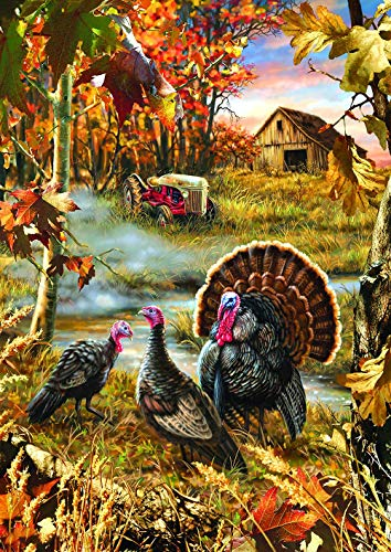 300 Piece Puzzles- Turkey - Wooden Jigsaw Puzzles for Adults Kids Family Friends Educational Toys Thanksgiving Gift