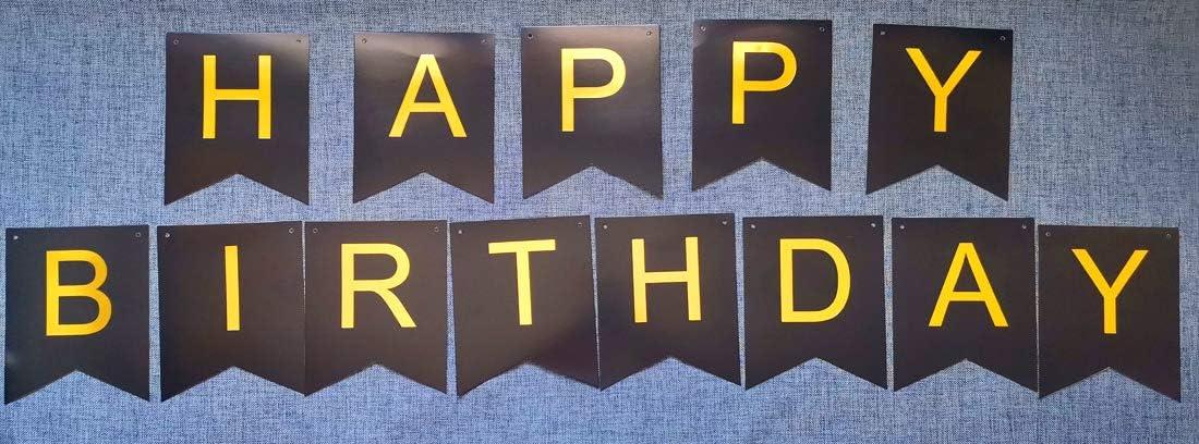 GOADAFOO Happy Birthday Banner Balloons Yard Sign Bunting Backdrop Decor Birthday Party Decorations Supplies Greens