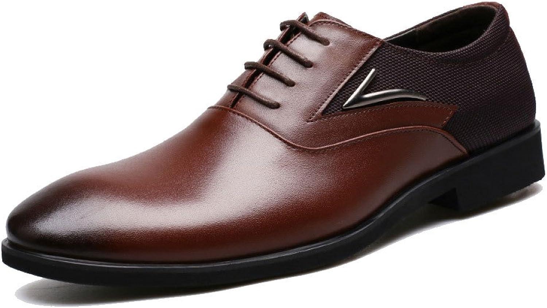 LEDLFIE Men's Leather shoes Business Men's shoes Dress Leather shoes