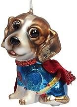 December Diamonds Blown Glass Ornament - Superhero Beagle Doggie