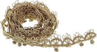 Computer accessories - 1 Yard Vintage Flower Lace Trim for Garments Bridals Decorations DIY Sew Arts Crafts Costumes Scrapbooks, Gold
