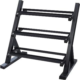 Fuxion Shelf, Set 3 Tier Strength Training Equipment for Home Gym,Multiple, 1100 pounds Dumbbells Rack, Black