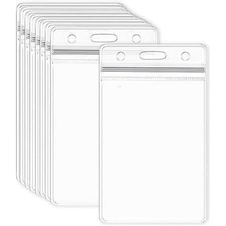 in plastica rigida 2 /– 3 carte confezione da 5 porta badge verticali Ceydey per carta di credito trasparente resistente