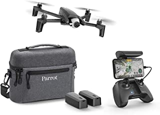 Parrot - Drone Anafi Extended - Pack with 2 Additional Batteries, Carrying Bag, Additional Propeller Blades and Others - 4K HDR Camera with 180° swivelling Platform - Compact and Foldable, Dark Grey