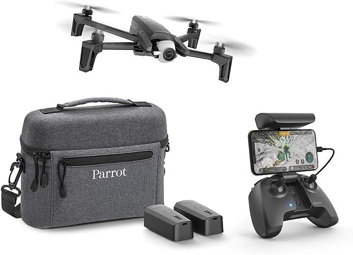 Drone con 2 batterie aggiuntive borsa da trasporto ed eliche aggiuntive parrot anafi extended B07HS6PBJX