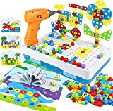 yoptote 224 PCS Juguetes Montessori Puzzles 3D Mosaicos Infantiles Manualidades Niños...
