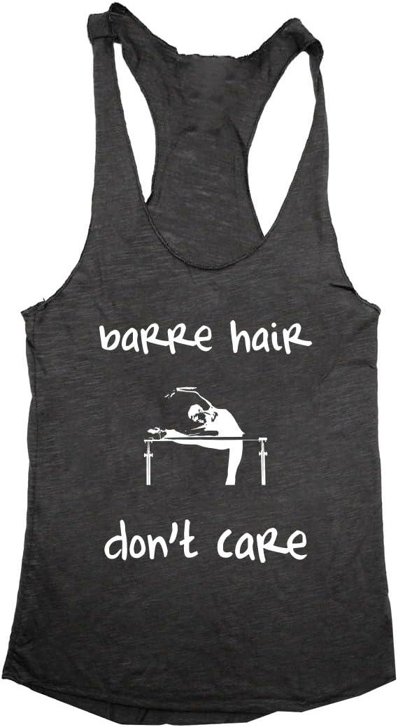 White RZR Hair Don/'t Care Women/'s Racerback T Shirt Black