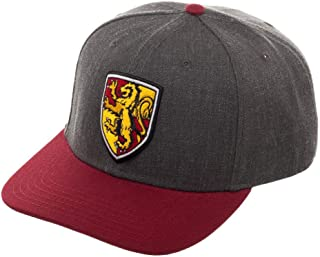 Harry Potter Metallic Embroidery Snapback Hat with Pre-Curved Bill