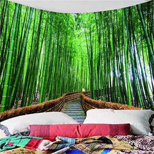 H/A Tapisserie Bambou Vert Forêt Art Créatif Hippie Mandala Nappe Bohème Décoration Unique Nappe De Pique-Nique Nappe Multicolore 343A (59X59 Pouces)