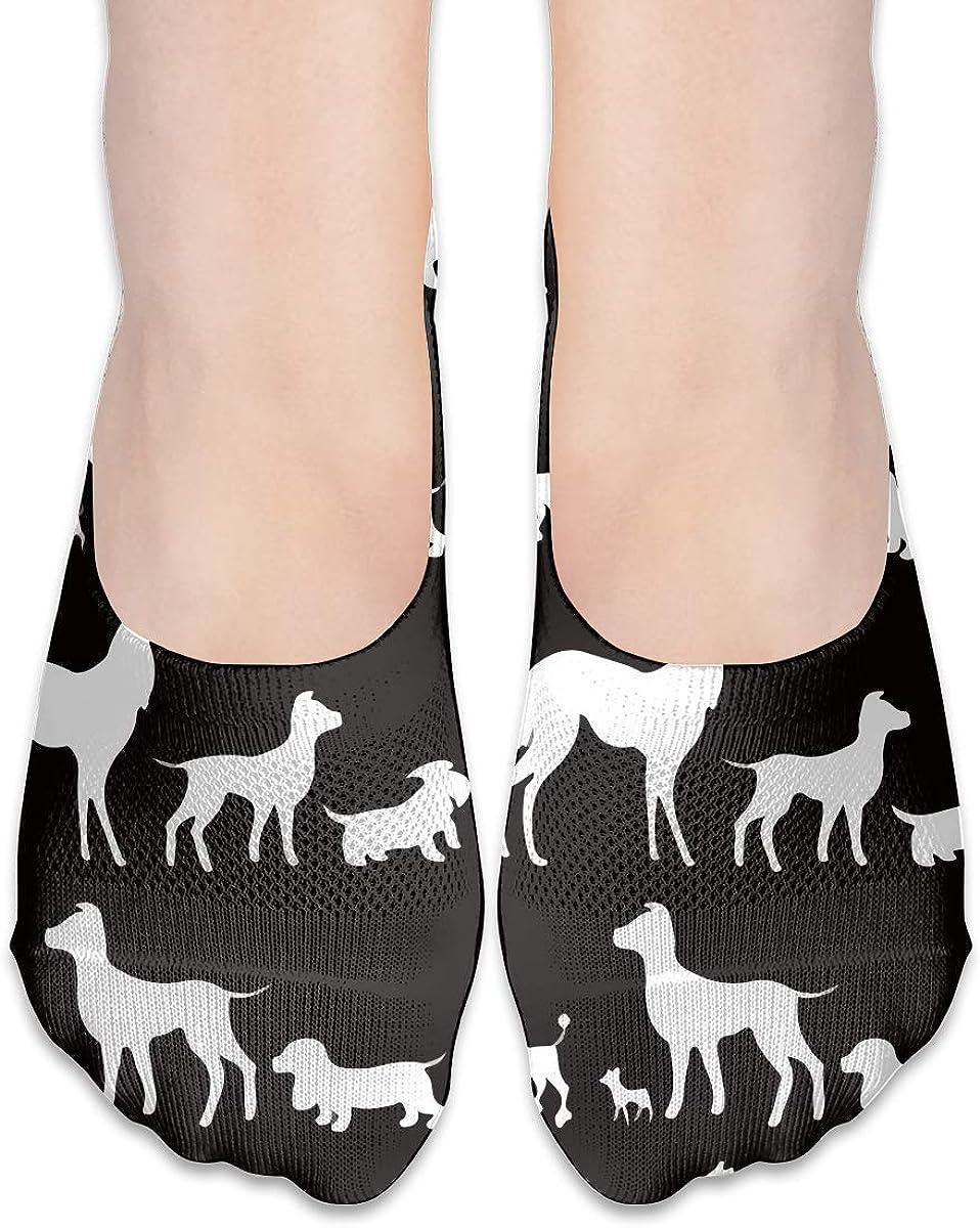 No Show Socks Women Men For Rottweiler Poodle Lover Flats Cotton Ultra Low Cut Liner Socks Non Slip