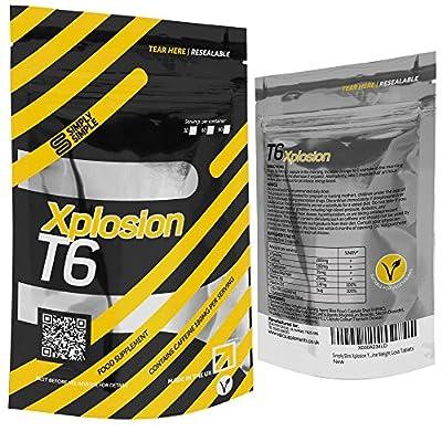 Simply Simple T6 Xplosion Slimming Pills Vit D, B6, Choline Vegan Safe Fat Burners