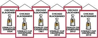 Winning Streak NHL Chicago Blackhawks Unisex Chicago Blackhawks Rafter Banner Replica PackChicago Blackhawks Rafter Banner Replica Pack, red, Banner