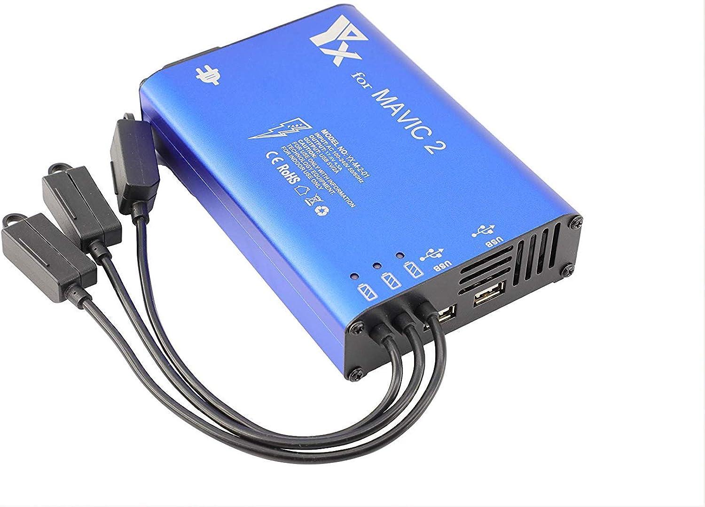 envío gratis Wealth Cochegador de batería Mavic 2, Accesorios para dji Mavic Mavic Mavic 2 Pro Zoom, estación Central de Cochega rápida de baterías paralelas 5 en 1, 3 baterías, 2 Puertos USB, con Interruptor de Encendido  compra en línea hoy