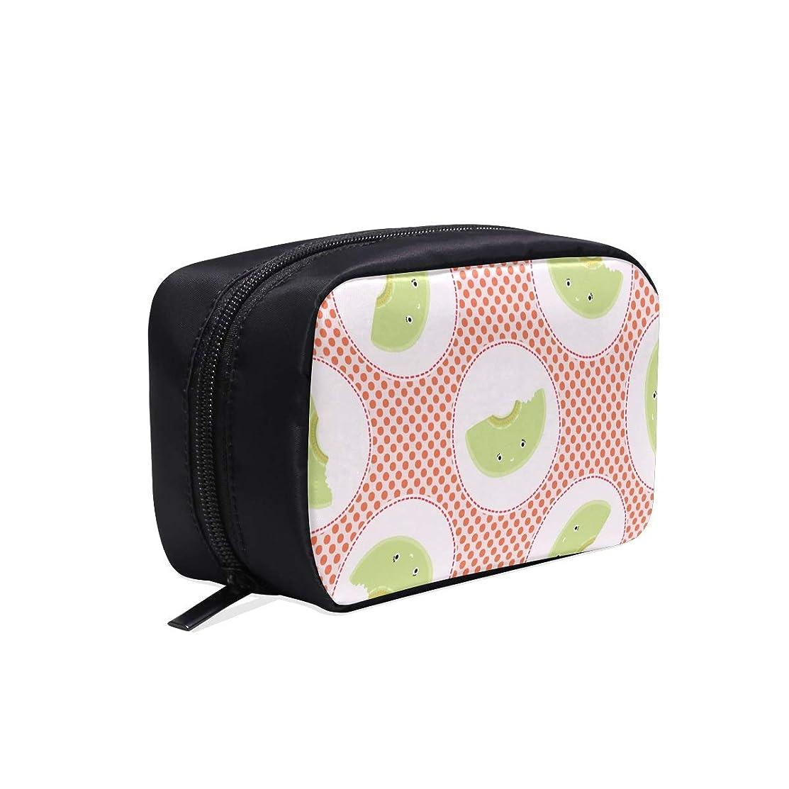 アーティスト交換価値MDKHJ メイクポーチ 新鮮なメロン ボックス コスメ収納 化粧品収納ケース 大容量 収納 化粧品入れ 化粧バッグ 旅行用 メイクブラシバッグ 化粧箱 持ち運び便利 プロ用