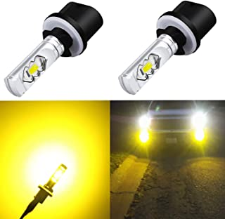 Alla Lighting 3800lm 899 880 LED Fog Light Bulbs Xtreme Super Bright 892 880 LED Bulb ETI 56-SMD LED 880 Bulb for Auto Motorcycle Cars Trucks SUVs Fog DRL Lights, 3000k Amber Yellow (Set of 2)
