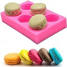 MoldFun 6-Cavity 3D Macaroon/Macaron Hamburger Silicone Mold for Fondant, Cake/Cupcake Decorating, Baking, Gum Paste, Chocolate, Candy, Polymer clay, Mini Soap, Bath Bomb