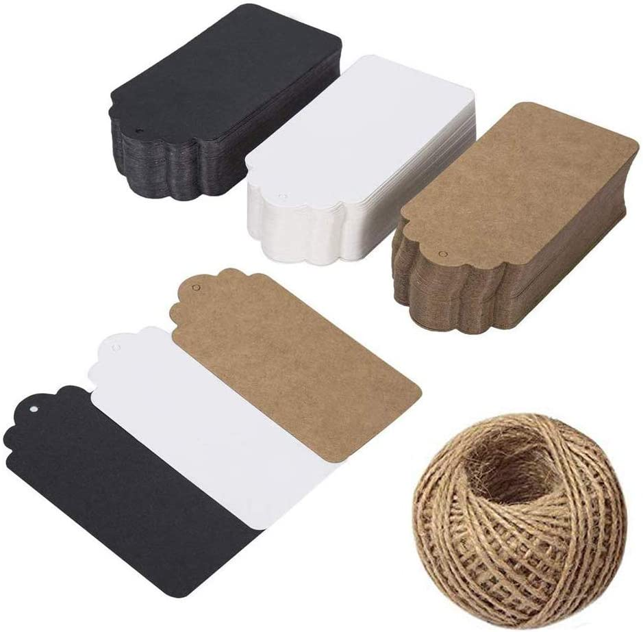 Kraft Gift Paper Tags with 99 Twine Jute Natural Ranking TOP1 Pieces New products, world's highest quality popular! 150 ft