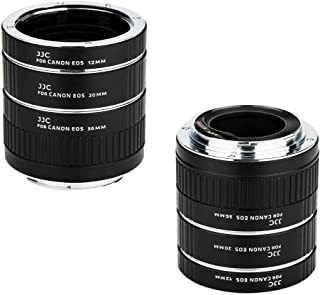 JJC EF & EF-S Mount Auto Focus Extension Tube Set for Canon EOS 80D 90D 70D 60D 77D Rebel T6 T7 T5 T7i T6i T6s T5i T4i SL3 SL2 EOS 6D Mark II 7D Mark II 5D Mark IV III II 5Ds R 1Dx Mark II and More