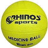RHINOS sports, palla medica, palla da ginnastica, da 800 g, 1 kg, 1,5 kg, 2 kg, 3 kg, 4 kg, 5 kg,...