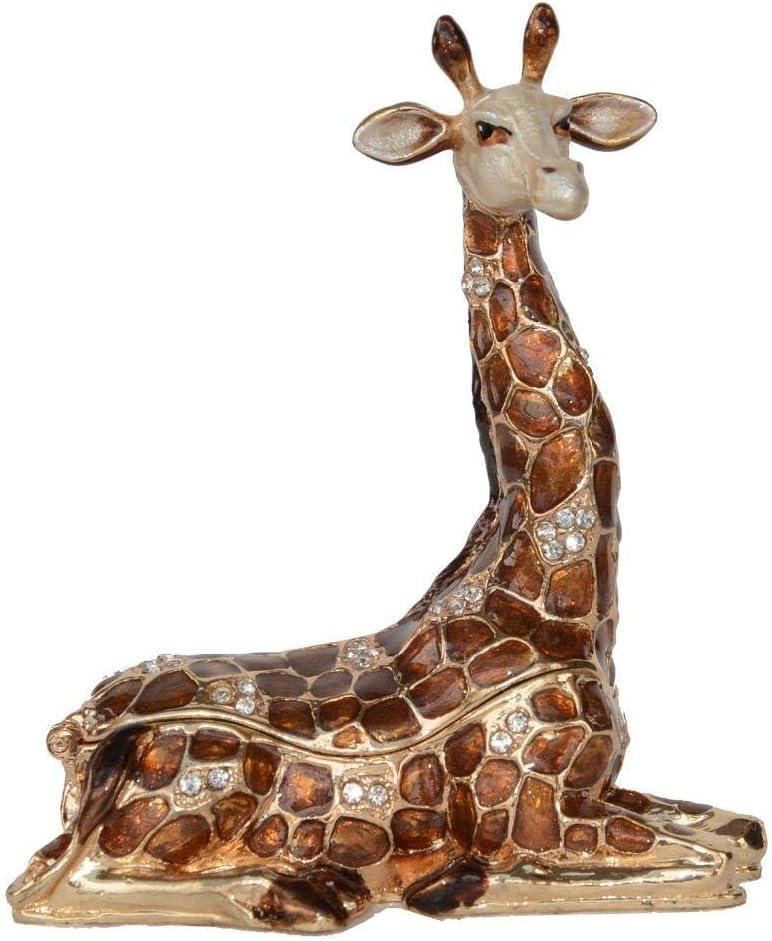 OFFicial shop XDFGV Busts Sitting Giraffe Metal Bo Trinket Seasonal Wrap Introduction Jewelry Boxes Alloy