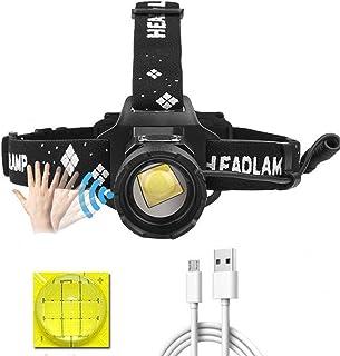 LUXJUMPER XHP99 Led-hoofdlamp, oplaadbaar, 10000 lumen, superheldere koplamp-bewegingssensor, 5 modi, hoofdlamp, krachtige...